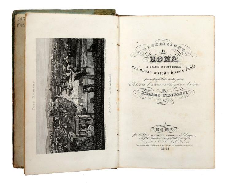 Nibby Antonio. Itinerario di Roma e delle sue vicinanze... Roma: nella tipografia Poggioli presso Luigi Nicoletti, 1827