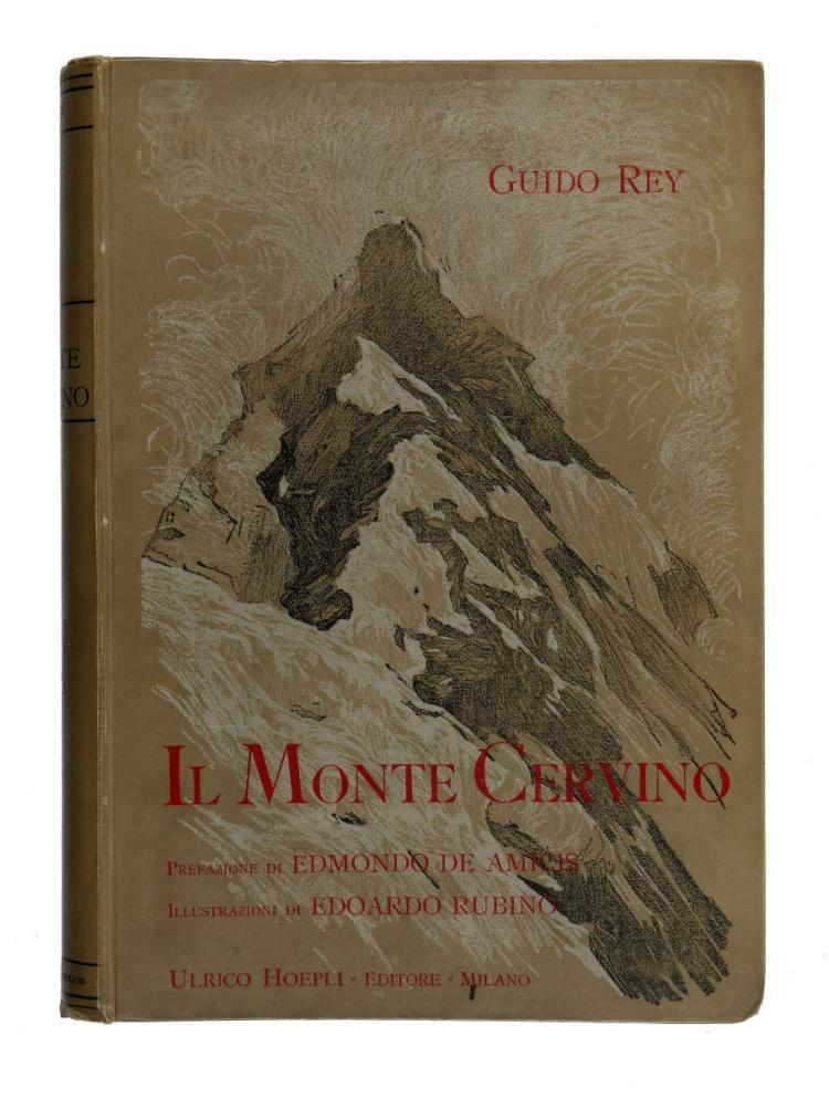 Rey Guido. Il Monte Cervino. Illustrazioni di Edoardo Rubino... Milano: Ulrico Hoepli, 1904