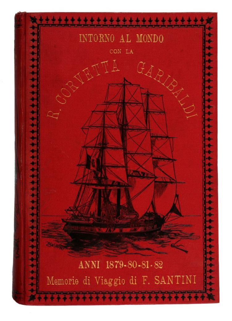 Santini Felice. Intorno al mondo a bordo della regia corvetta Garibaldi... Roma: Voghera Carlo, 1886