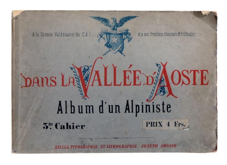Vallino Domenico. Dans la Vallée d'Aoste... Biella: Typographie et Lithographie Joseph Amosso, s.d. [1880]