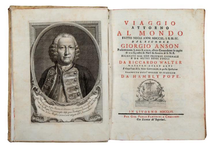 Walter Richard. Viaggio attorno al Mondo fatto negli anni 1740-1744 dal signor Giorgio Anson... In Livorno: Per Gio. Paolo Fantechi e Compagni, 1756