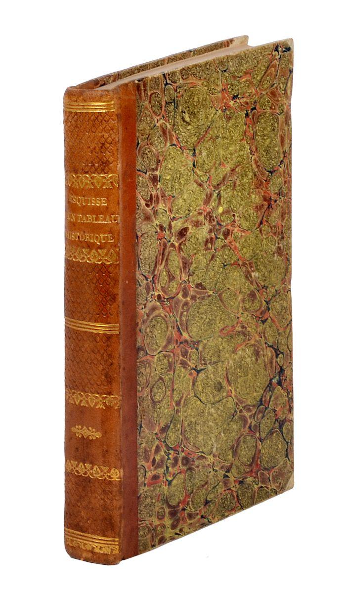 Condorcet Jean Antoine Nicolas de Caritat marquis de. Esquisse d'un tableau historique des progrès de l'esprit humain... A Paris: Chez Agasse, 1795