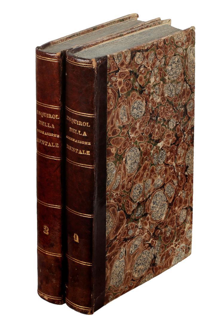 Esquirol Jean Étienne Dominique. Della alienazione mentale o della pazzia in genere e in ispecie. Milano: Felice Rusconi, 1827-1829