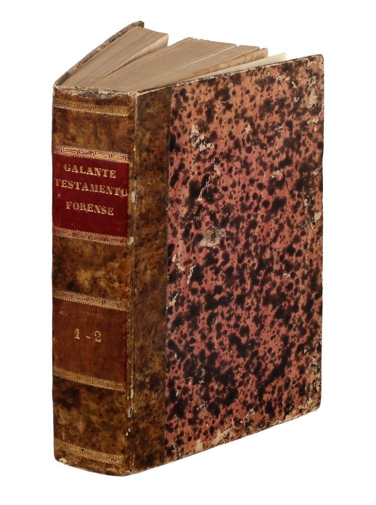 Galanti Giuseppe Maria. Testamento forense. Venezia: presso Antonio Graziosi, 1806.