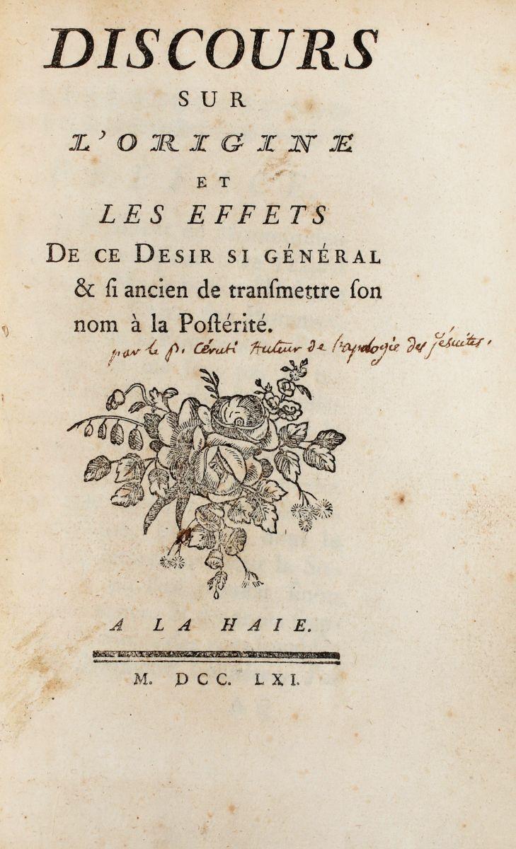 Gerdil Giacinto Sigismondo. Discours de la nature, et des effets du luxe par le P. G. B.. Torino: Francesco Maria Mairesse, 1768.