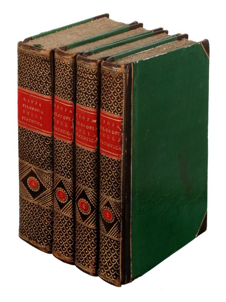 Gioia Melchiorre. Filosofia della statistica... Milano: Editori degli Annali universali delle scienze e dell'industria, 1829-1830.