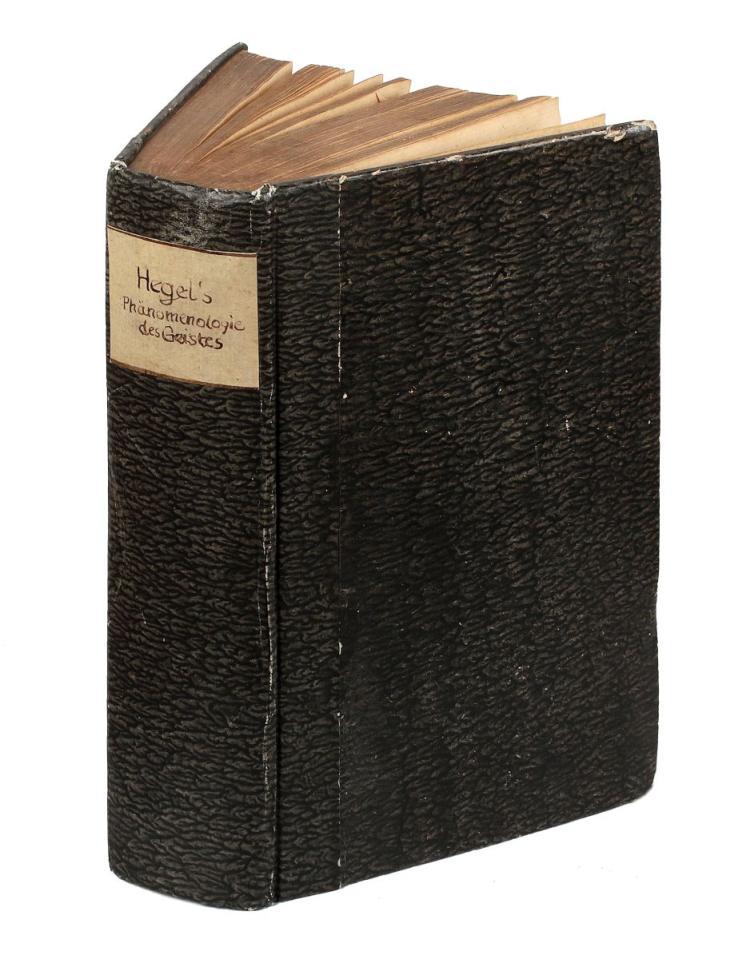 Hegel Georg Wilhelm Friedrich. System der Wissenschaft... Erster Theil, die Phanomenologie des Geistes. Bamberg: Joseph Anton Goebhardt, 1807.