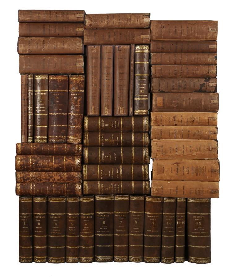 Riviste e Periodici. Biblioteca dell'economista. Torino: Cugini Pomba e Comp., 1850-1889.