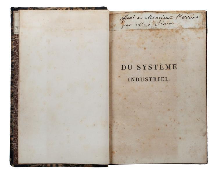 Saint-Simon Claude Henri (de). Du Système industriel. Paris: Antoine-Augustine Renouard, 1821.