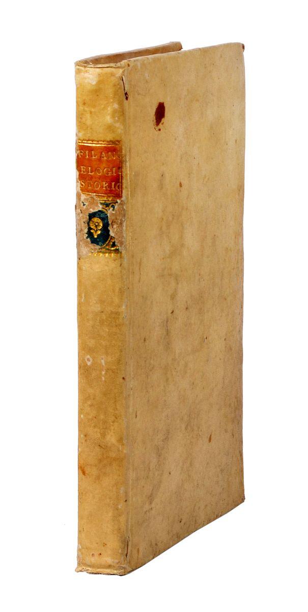 Tommasi Donato. Elogio storico del cavaliere Gaetano Filangieri. Napoli: a spese di Michele Stasi, 1792.