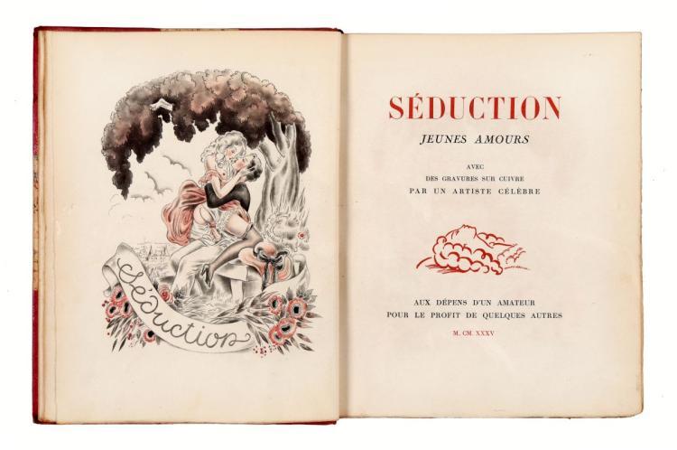Brevannes Roland. Séduction, jeunes amours. [Paris]: Au Dépens d'un amateur, 1935.
