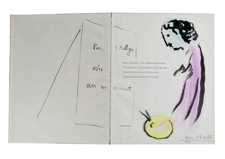 Chagall Marc. Marc Chagall. Das graphische Werk. Enleitung und Auswalh Franz Meyer. Dokumentation Hans Bolliger. Stuttgart: Verlag Gerd Hatje, 1957.