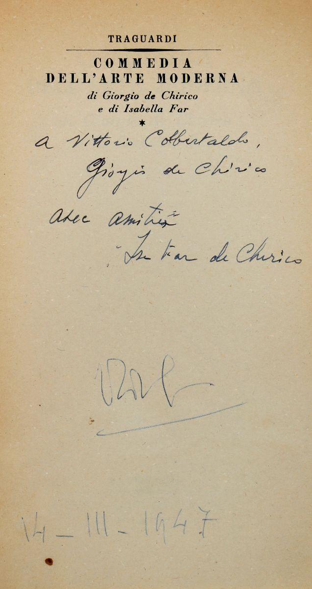 De Chirico Giorgio. Commedia dell'Arte Moderna. Roma: Traguardi. Nuove Edizioni Italiane, 1945.