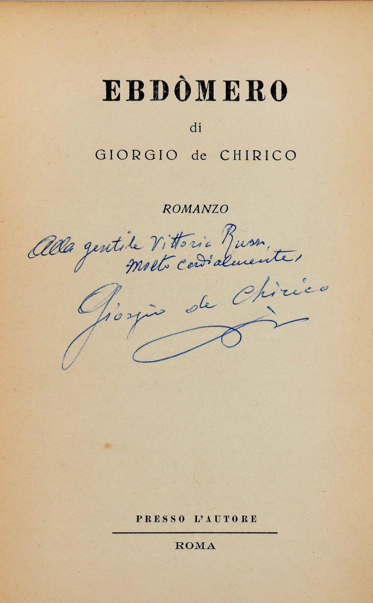 De Chirico Giorgio. Ebdòmero. Roma: Presso l'Autore, 1957.