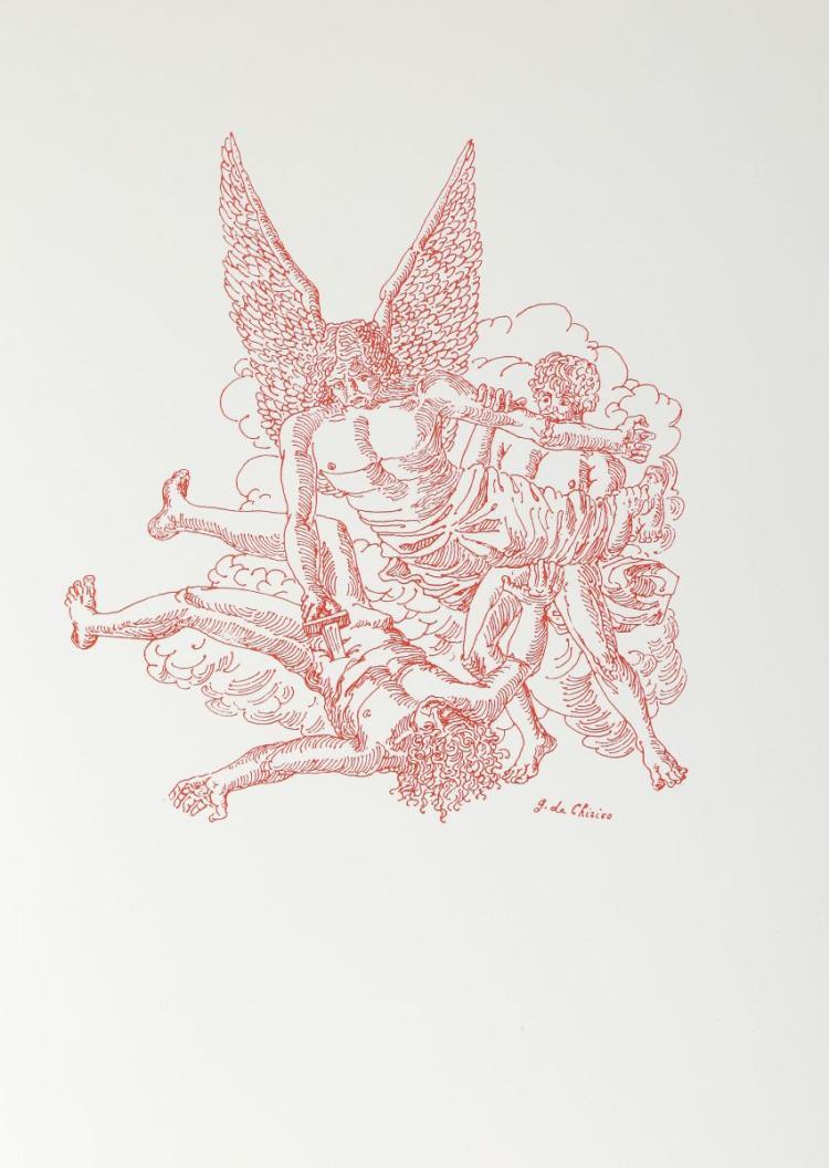 De Chirico Giorgio. Apocalisse di Giovanni evangelista, illustrata da Giorgio De Chirico. Milano: C. E. Bestetti, 1977.