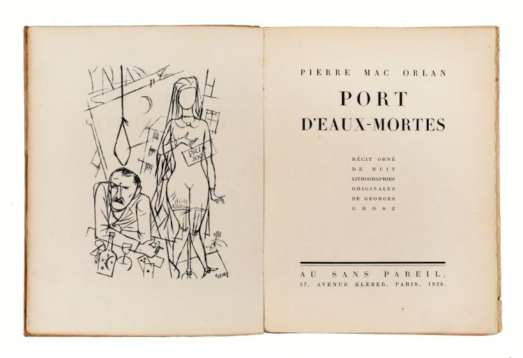 Mac Orlan Pierre. Port d'Eaux-Mortes. Paris: Au Sans Pareil, 1926