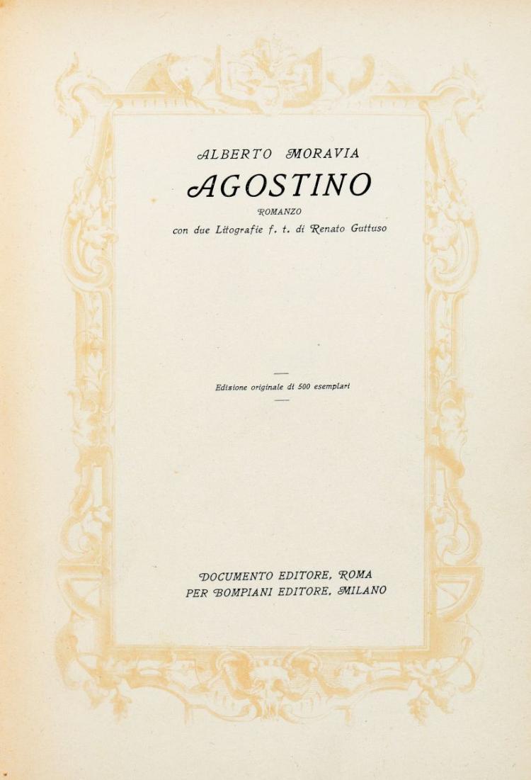 Moravia Alberto. Agostino. Roma: Documento Editore, 1944.