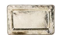 Vassoio rettangolare in argento titolo 800, Ungheria, 1937. A silver tray, Hungary, 1937.