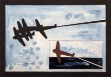 Angeli Franco. Senza titolo (Volo). 1980