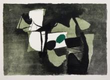 Basaldella Afro. Composizione verde. 1966