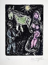 Chagall Marc (Vitebsk 1887 - Saint-Paul-de-Vence 1985). Naissance de la nuit. 1972.