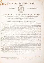 Repubblica Subalpina. Nazione Piemontese. Lotto di 24 documenti. Torino: nella Stamperia nazionale[1800-1802]