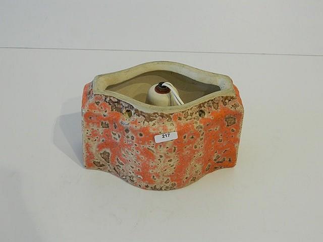 Élément de luminaire de type Fat Lava, circa 1960-70, céramique émaillée, l