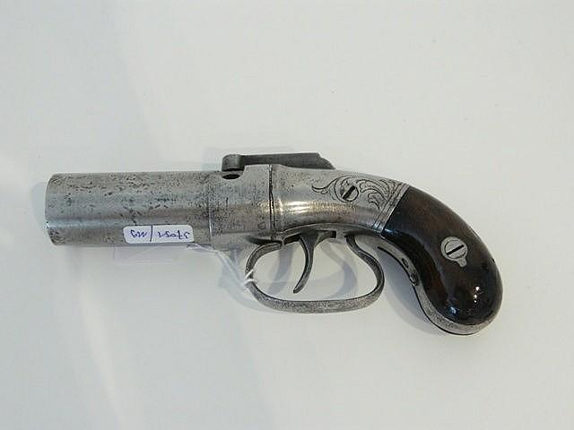 Revolver à gros canon cylindrique de six coups, XIXe, marqué [New York - 18