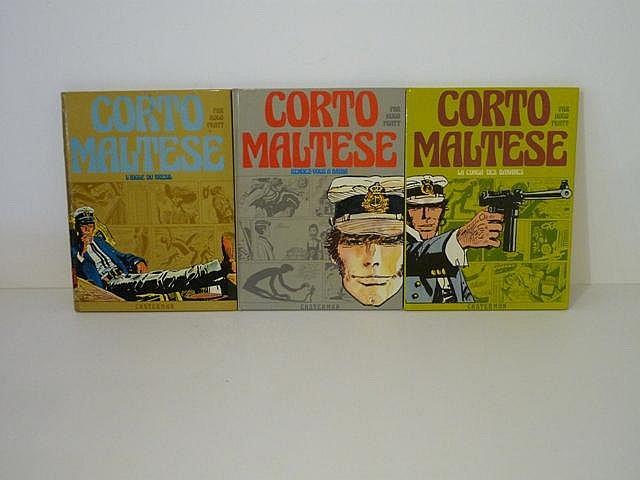 PRATT H., Corto Maltese, ensemble de 3 albums :