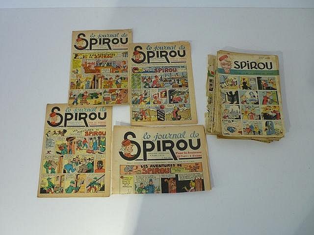 Ensemble de 36 numéros Spirou anciens : numéros 18 (grand format), 36 et 42