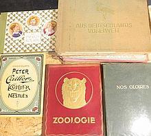 Ensemble de 12 albums à vignettes : Zoologie, KWATTA ; Nos gloires, HISTORI