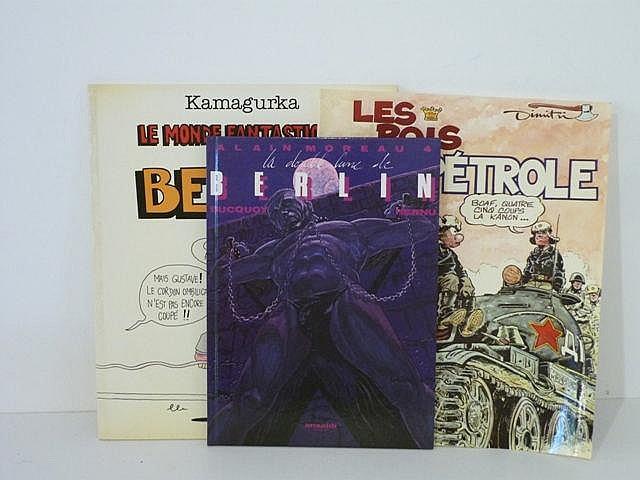 Ensemble de 50 bandes dessinées hétéroclites dont certaines érotiques [bon