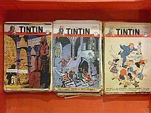 Le journal de Tintin, ensemble de numéros de la quatrième à la septième ann