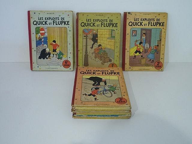 HERGÉ, REMI Georges dit (1907-1983), Les Exploits de Quick et Flupke, ensem