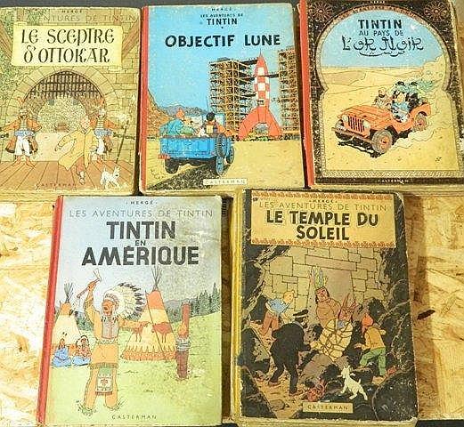 HERGÉ, REMI Georges dit (1907-1983), Les Aventures de Tintin, ensemble de 1
