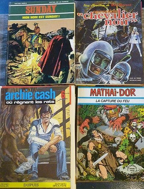 Ensemble de 32 albums : 12 albums des aventures de Bob Morane, VERNES H. et