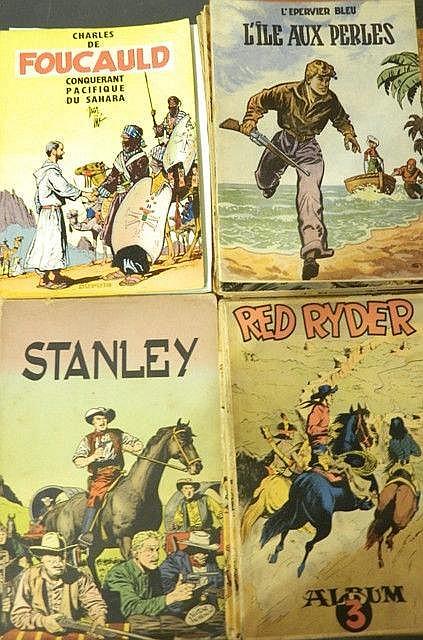 Ensemble de 20 albums : 2 albums Les Aventures de Buck Danny, HUBINON V.,