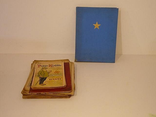 Petit lot hétéroclite : Atlas du Congo, revues de guerre, ...