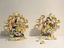 PETIT Jacob, MARDOCHÉE Jacob dit (1797-1868) Paire de pique-fleurs d'époque