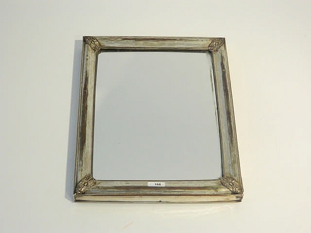 Miroir de table rectangulaire xixe acajou cadre en m tal - Miroir argente rectangulaire ...