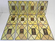 Belle suite de douze vitraux ornés d'après des œuvres du XVIe dont Dürer,