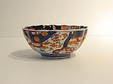 CHINE Bol polylobé à décor Imari, dynastie Qing / XIXe, porcelaine à couver
