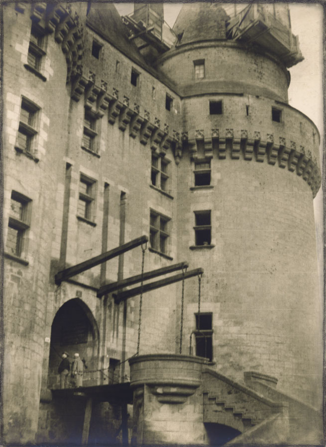 Bertram Park (1883-1972): French Chateau, c. 1930, silver print, signed recto, Camera Club label and Bertram Park Studio, London label on mount verso