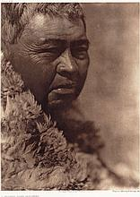 Edward S. Curtis: A Walker Lake Paviotso, 1924, photogravure on Japanese rice paper, title, date, photographer's copyright, and Suffolk Eng. Co. Cambridge, Mass printed on the back of mount