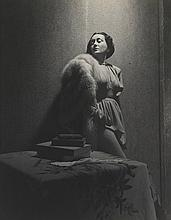Cecil Beaton: Gloria Swanson, 1946, vintage ferrotyped gelatin silver contact print