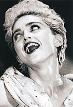 Ron Evans: Madonna in Dallas, 1987, toned silver print