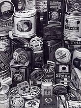 Susan McCartney: Cans, 1966, oversized exhibition silver print, on original mount trimmed to edges
