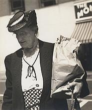 Walker Evans: Crossing the Street, 1941, silver print, on original mount