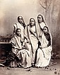 Unknown: Parses Ladies, Bombay, India, 1870s, albumen print from wet plate negative, on original mount, titled on the verso of the mount in black period ink