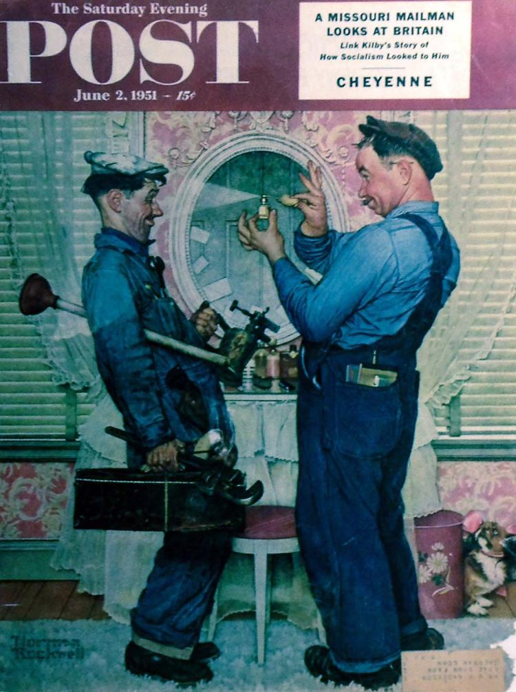 1951 Norman Rockwell Magazine Cover